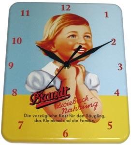 Plechové retro hodiny Brandt