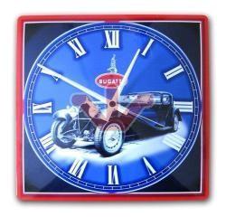 Plechové hodiny Bugatti