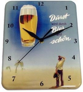 Plechové hodiny Pivo - Ein Bier geht noch