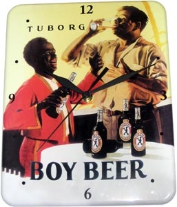 Plechové hodiny pivo - Boy Beer Tuborg