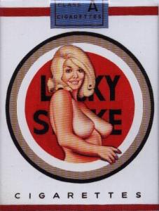 Plechový magnet Lucky Strike