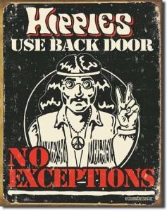 Plechová cedule Hippies