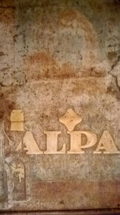 Originál plechová cedule Alpa