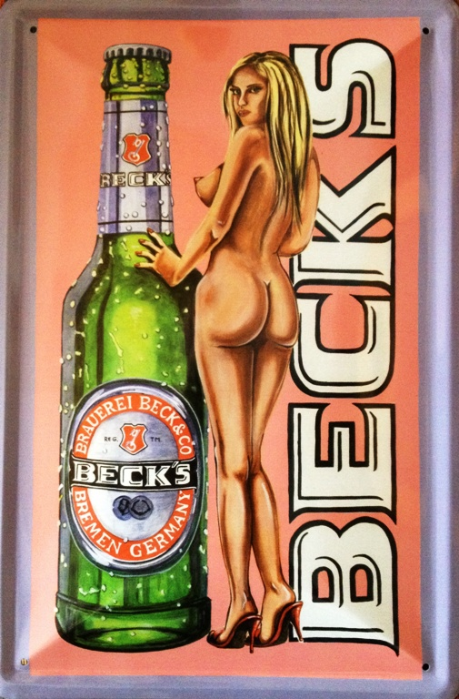 Plechová cedule pivo Becks