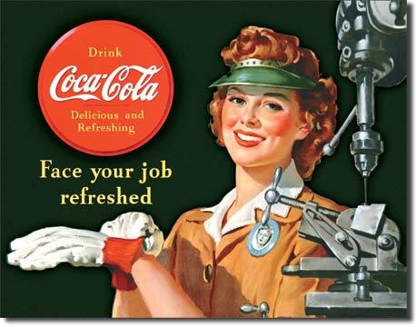 Plechová cedule Coca cola Face