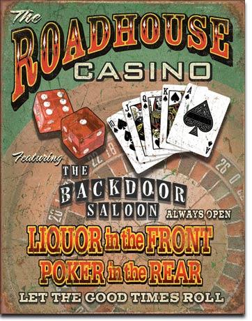 Plechová retro cedule Casino