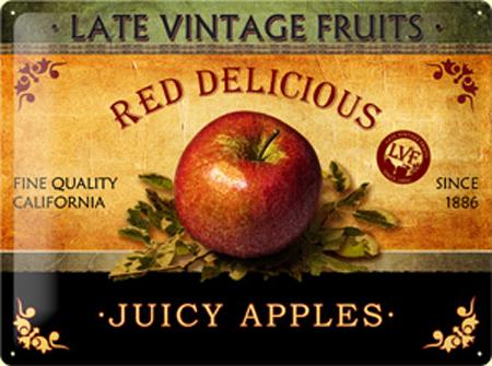 Plechová cedule Juicy apples