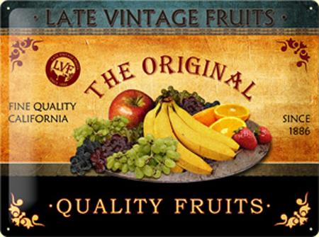 Plechová cedule Quality Fruits