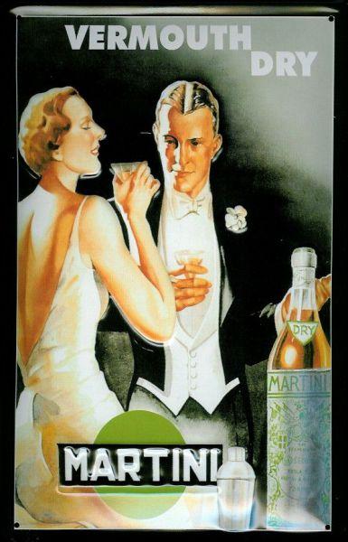 Plechová cedule Martini Vermouth Dry