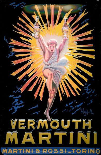 Plechová cedule Martini Vermouth