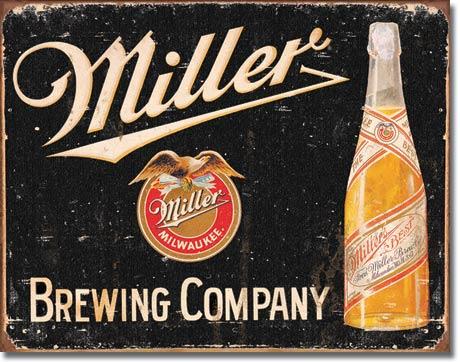 Cedule pivo Miller Milwaukee