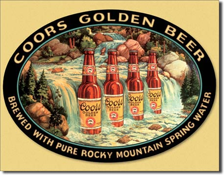 Cedule pivo Coors Golden beer