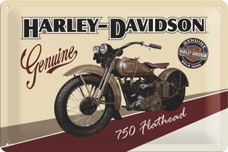 Plechová cedule motorka Harley Davidson 750 Flathead