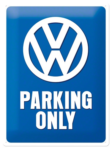 Plechová cedule VW Parking only