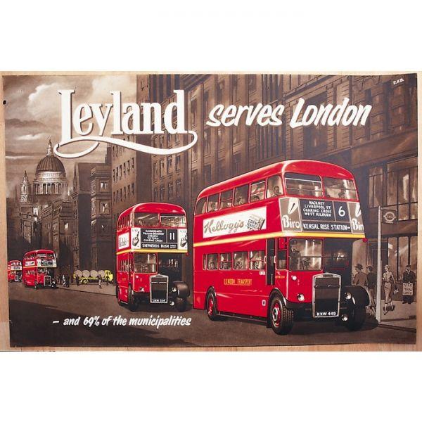 Plechový magnet London bus