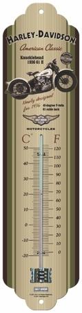 Plechový teploměr motorka Harley Davidson Genuine
