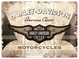 Plechová cedule Harley Davidson Motorcycles