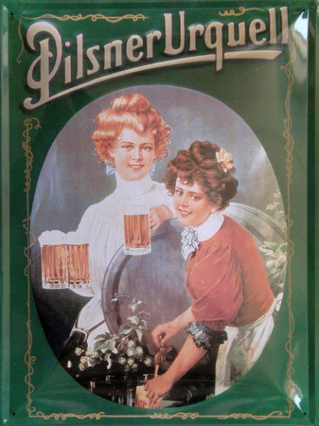Plechová cedule pivo Pilsner Urquell Bestseller PBCLP001