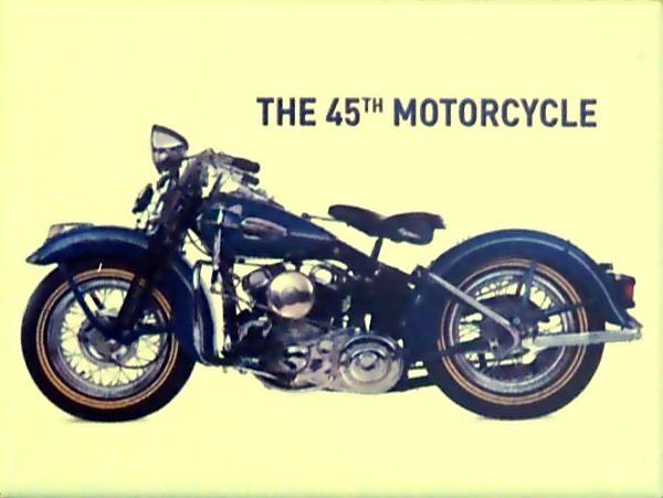 Plechová cedulka motorka The 45Th Motorcycle