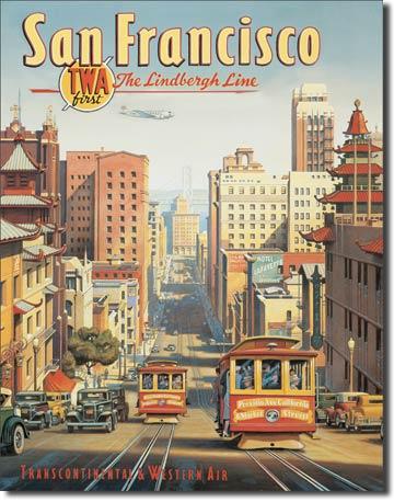 Plechová cedule San Francisco - tranvaje