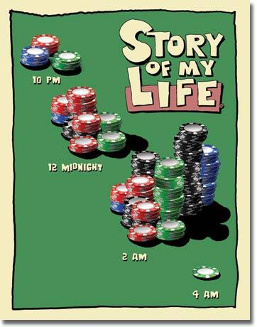 Plechová cedule pivo Story of my life - Casino
