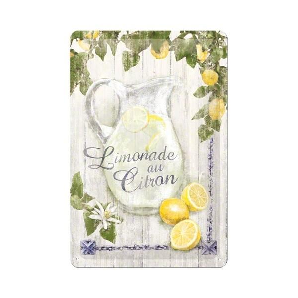 Plechová cedule Limonade au Citron