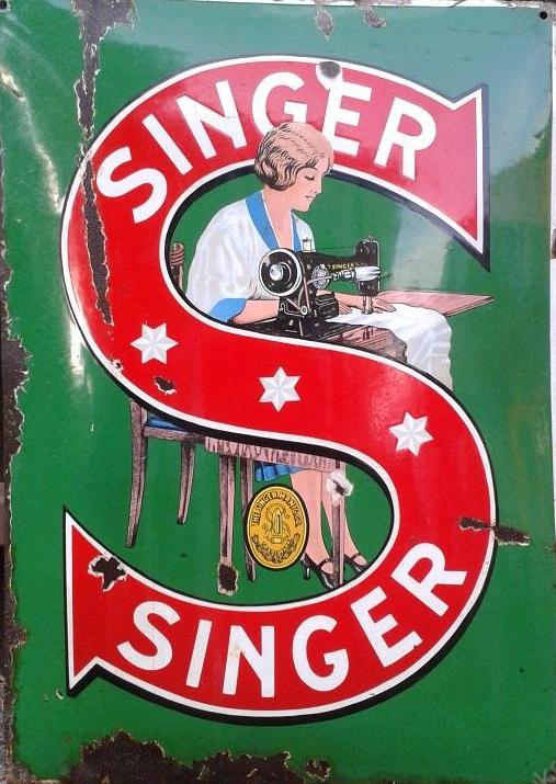 Smaltovaná cedule Singer