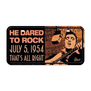 Plechová retro cedule SPZ Elvis Presley - he dared....