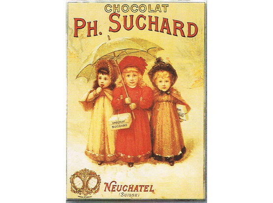 Plechová cedule Ph. Suchard
