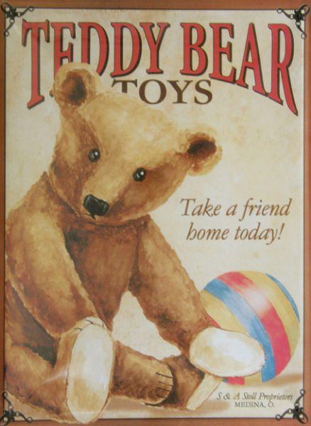 Plechová cedule medvídek Teddy bear