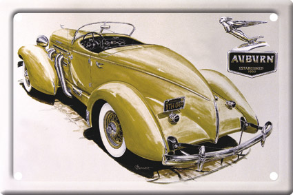 Plechová cedulka auto Auburn Speedster 851