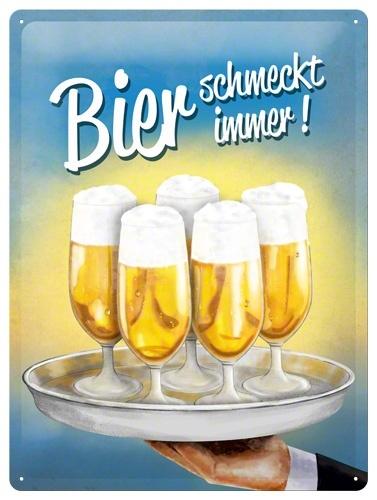 Plechová cedule pivo Bier