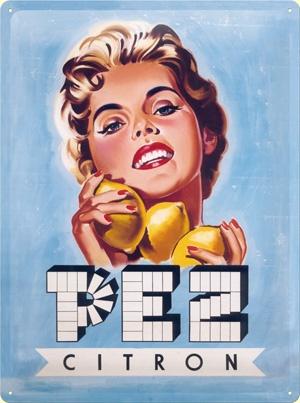 Plechová cedule Pez citron - bombóny