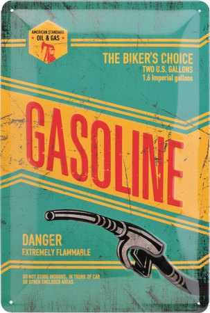 Plechová cedule Gasoline