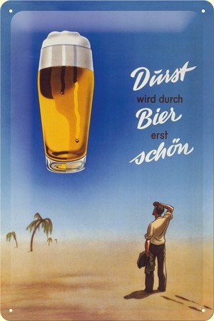 Plechová cedule pivo Durst bier shon