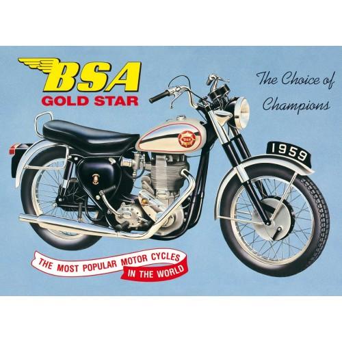 Plechová cedule BSA Gold star 1959