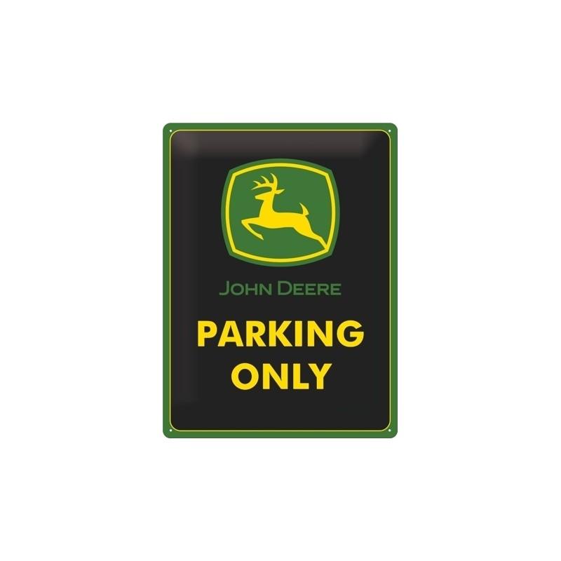 Plechová cedule John Deere Parking Only