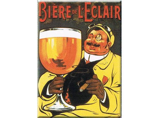 Plechová retro cedule pivo - Biere de Leclair