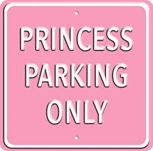 Plechová cedule Princess parking only