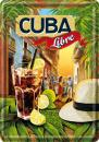Plechová retro cedule Cuba Libre