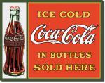 Plechová cedule Coca cola in bottles