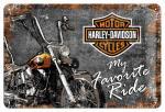 Plechová cedule motorka Harley Davidson My Favorite Ride