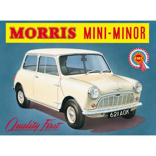 Plechová cedule auto Morris Mini Minor