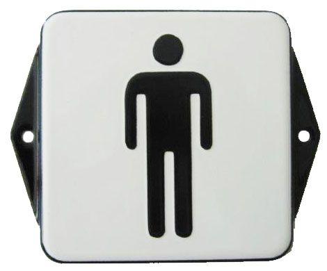 Smaltovaná cedulka na dveře WC - Muži