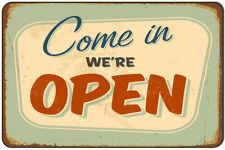 Plechová cedule Come in - We are open AKCE!