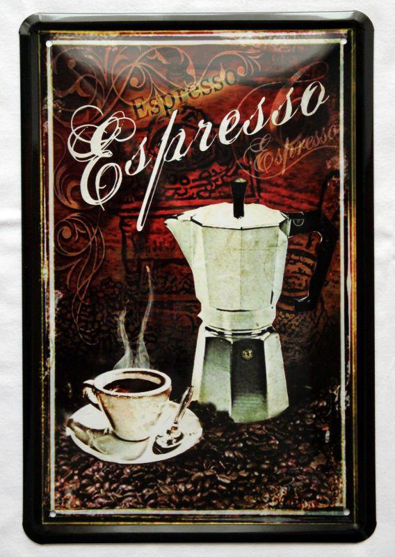Plechová cedule káva (coffee) - Espresso