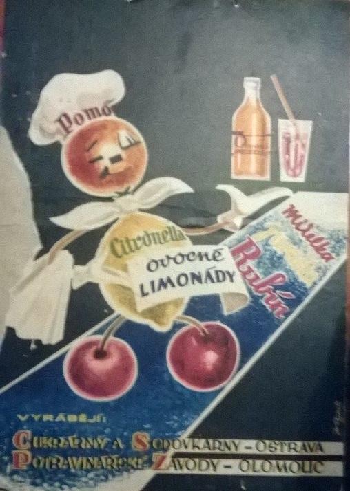 Kartonová maxi cedule Ovocné limonády - Citronella