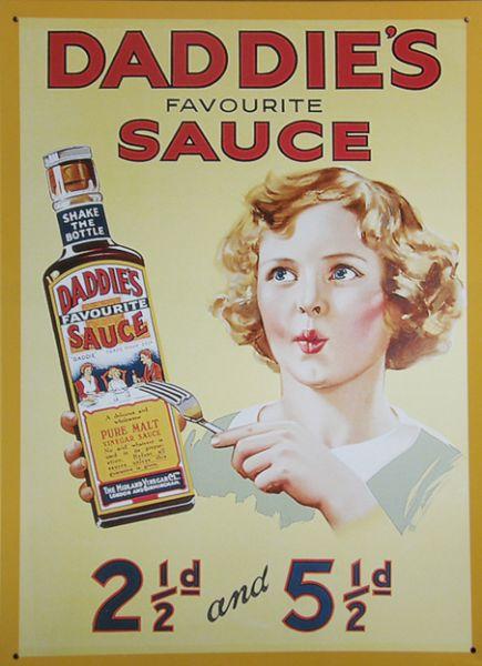 Plechová cedule Daddie´s Sauce