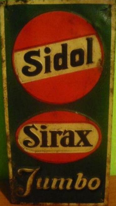 Smaltovaný originální štítek Sidol Sirax