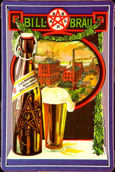 Plechová cedule pivo - Bill Brau